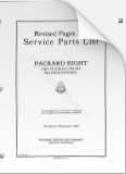 1924 - 1929 Packard Eight Parts List