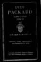 1939 Packard Twelve and Super Eight Owners Manual