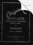 1935 - 1940 Auto-Lite Electrical Equipment Parts List for Packard