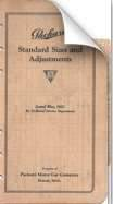 1923 Specifications and Adjustment