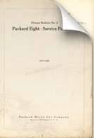 1925 Packard Six Service Part List Change Bulletin #1