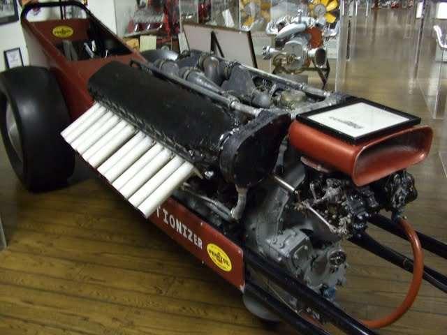 2,500 cu in  Packard PT-boat engine in Brooklands Bentley = win