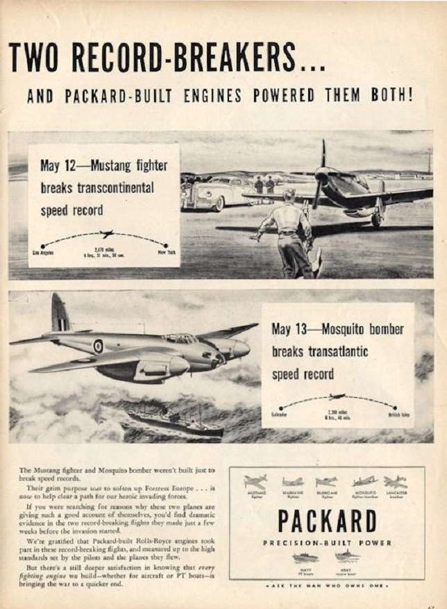 1945 PACKARD WWII ADVERT