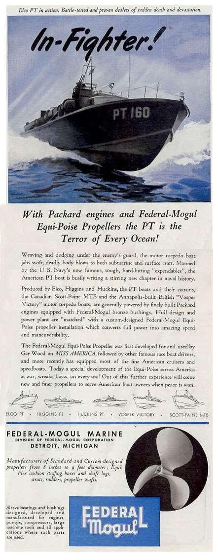 1943 PACKARD-FEDERAL MOGUL ADVERT