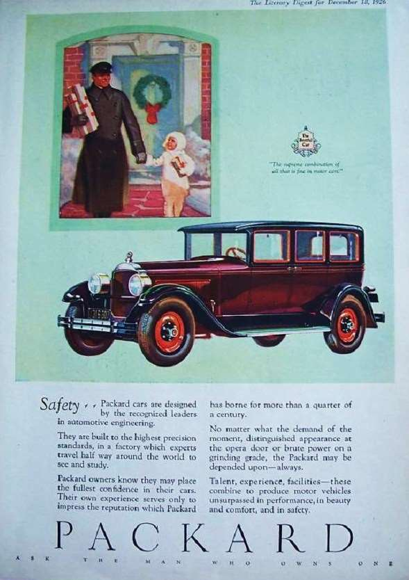 1926 PACKARD ADVERT