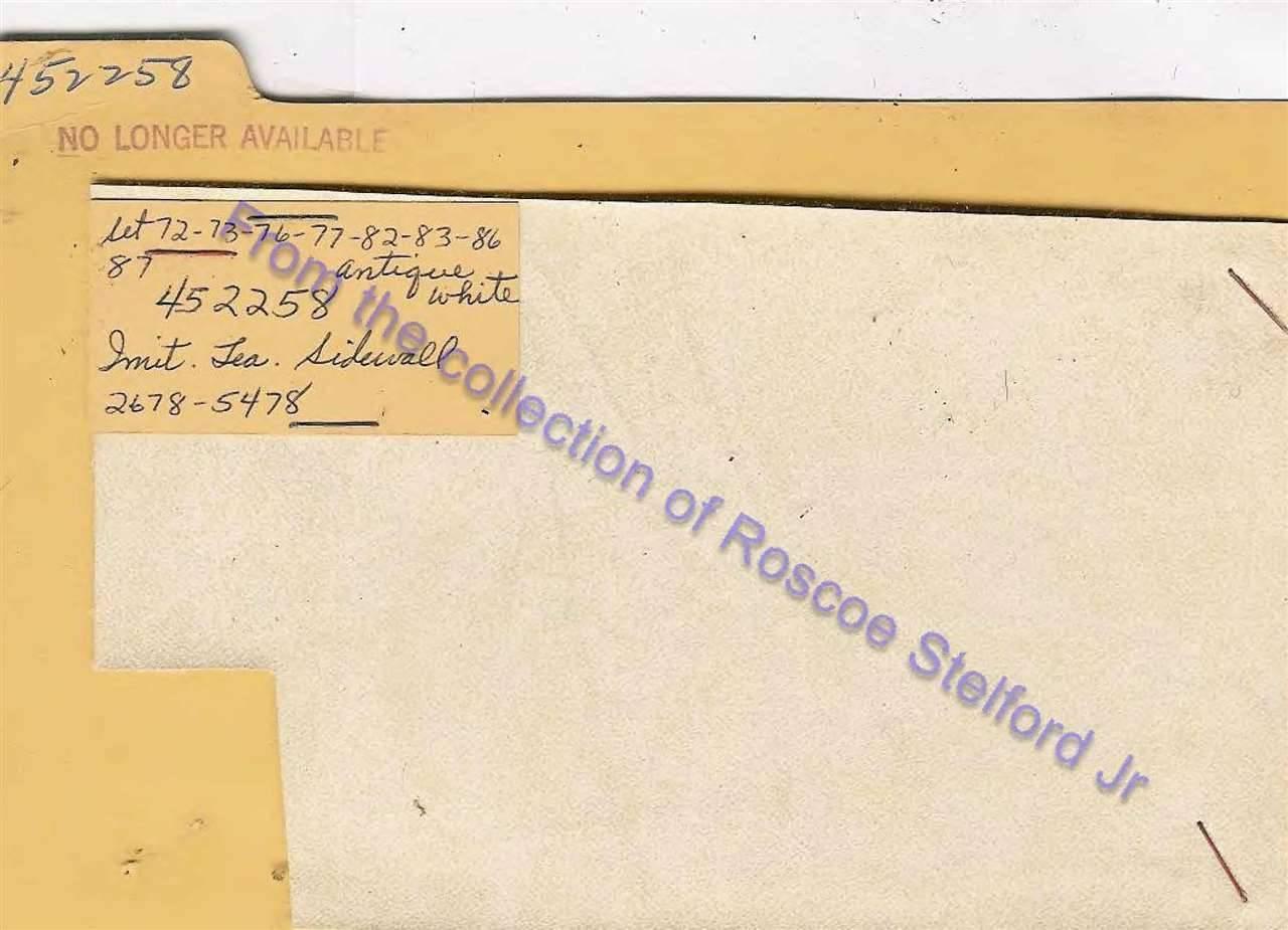 452258 - Imitation Leather Sidewall - Antique White