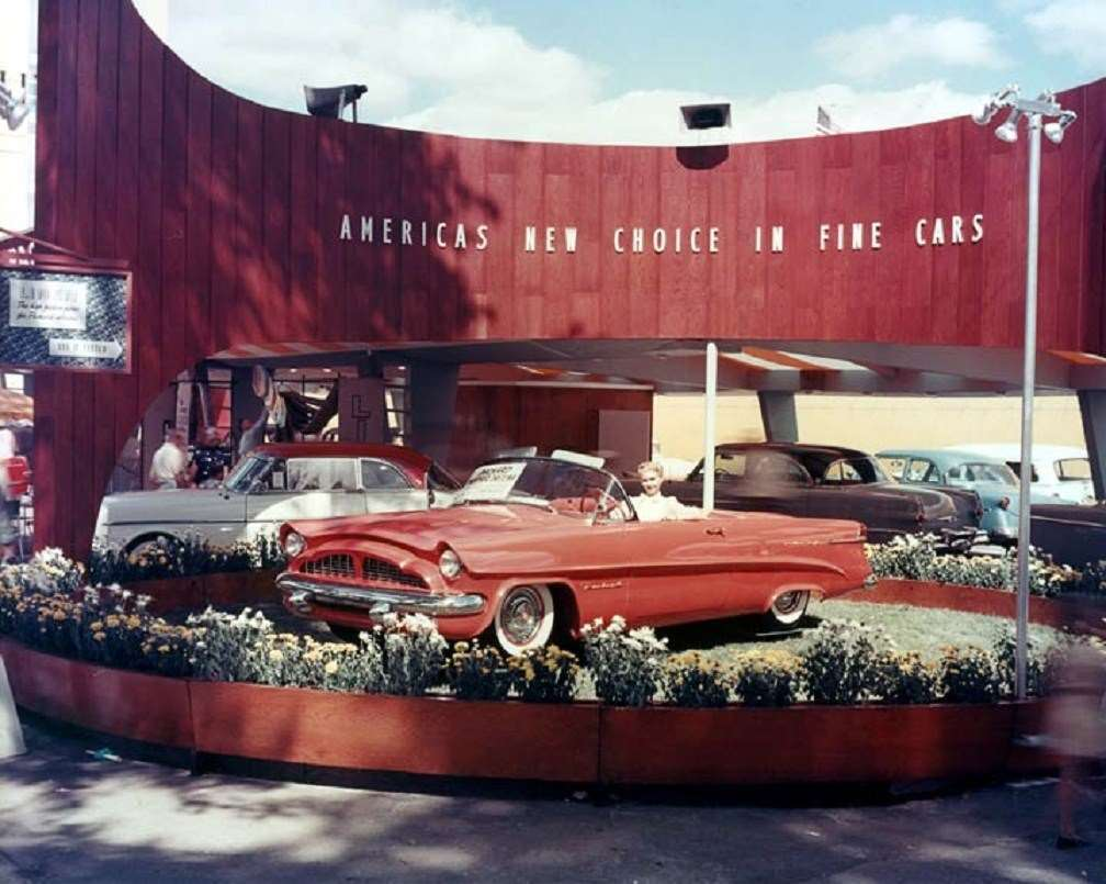 1954 PACKARD PANTHER AT AN AUTO DISPLAY