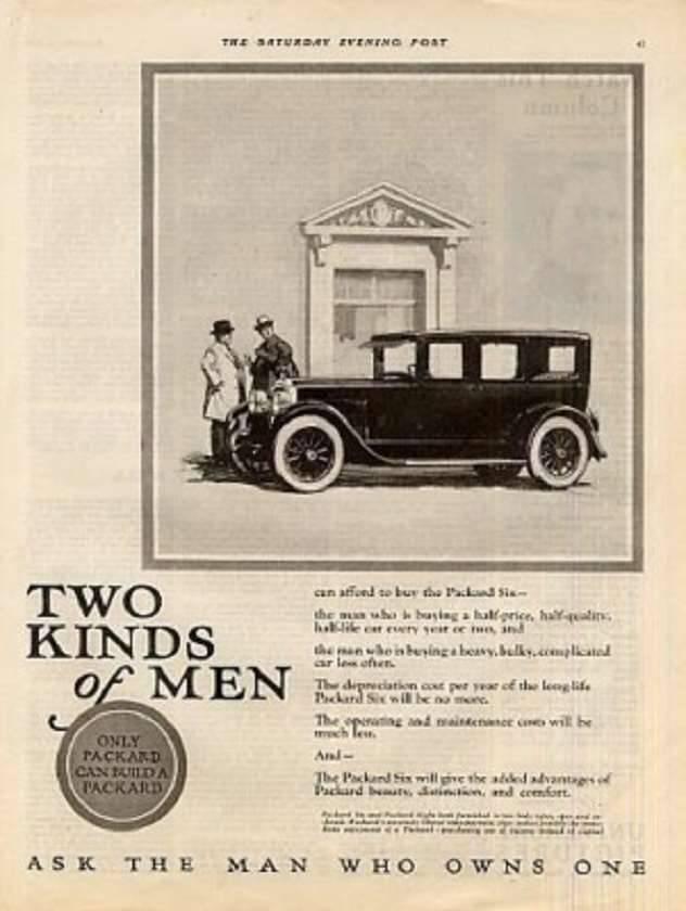 1925 PACKARD ADVERT-B&W