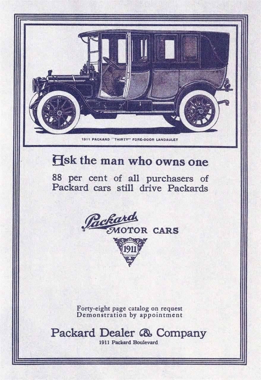 1911 PACKARD ADVERT-B&W