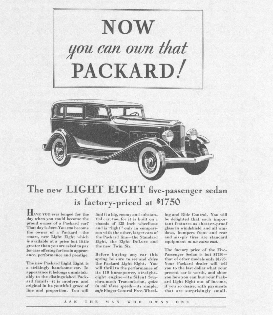 1932 PACKARD ADVERT12-B&W-072111