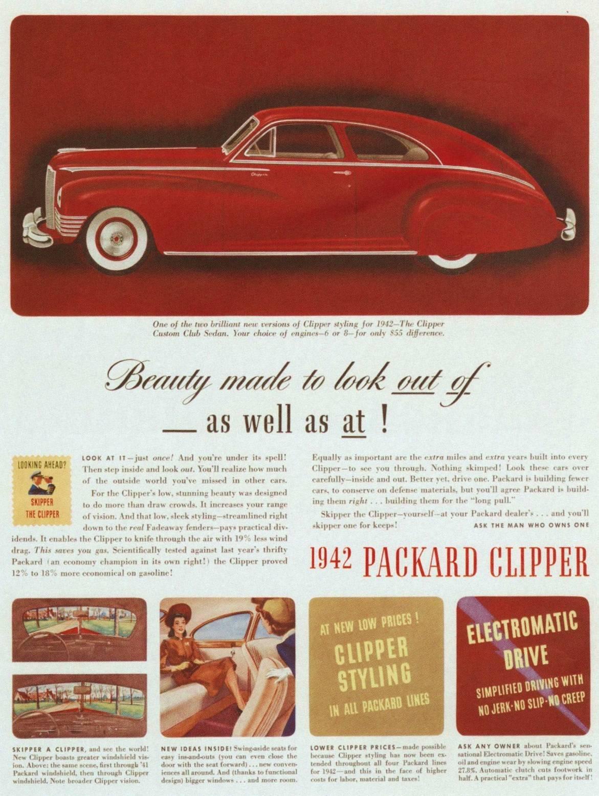 1942 PACKARD ADVERT