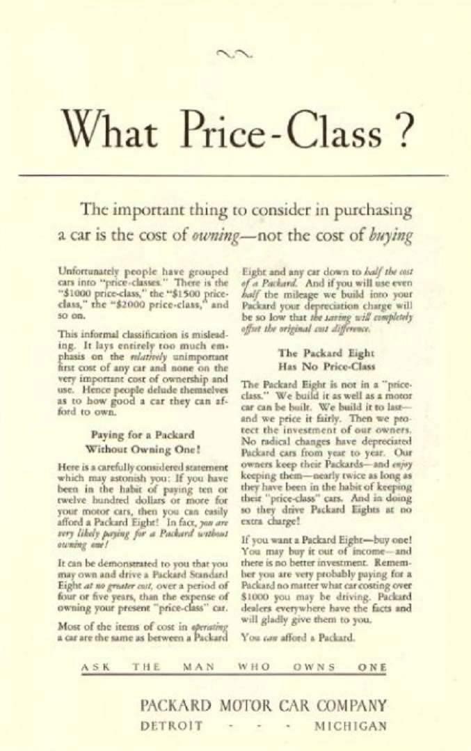 1927 PACKARD ADVERT-B&W