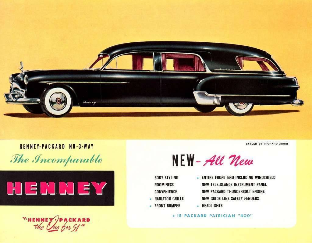 1951 PACKARD-HENNEY HEARSE ADVERT