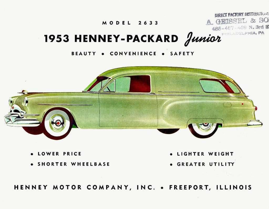1953 PACKARD-HENNEY JUNIOR AMBULANCE ADVERT