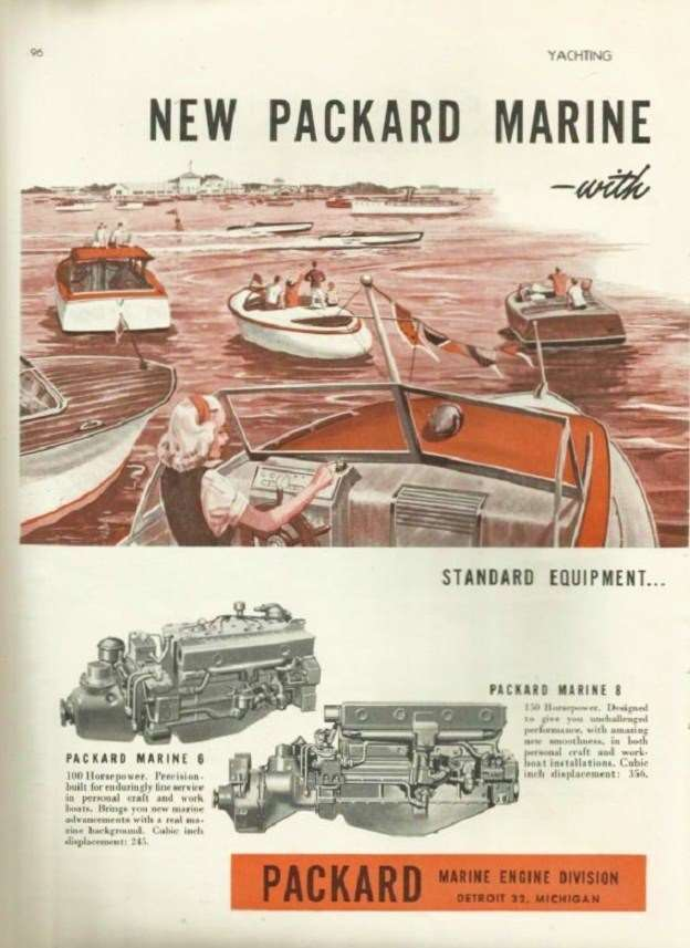 1947 PACKARD MARINE ADVERT-LH