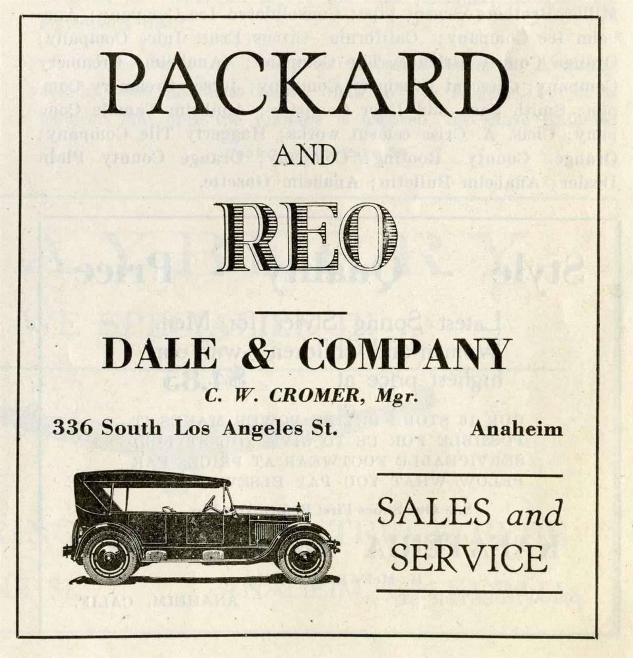 1923 PACKARD ADVERT-B&W