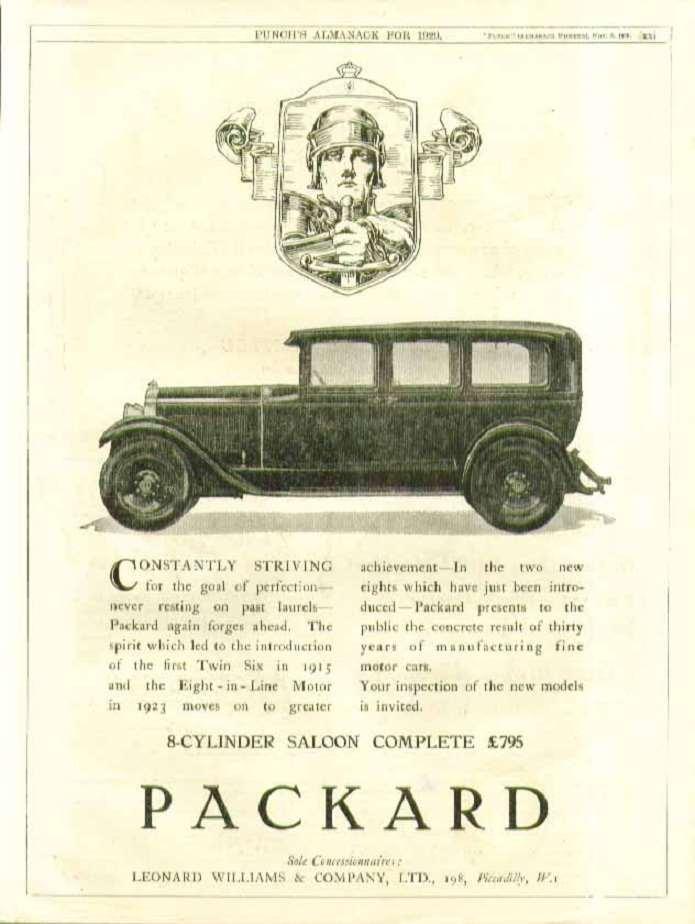 1929 PACKARD-ENGLAND ADVERT-B&W