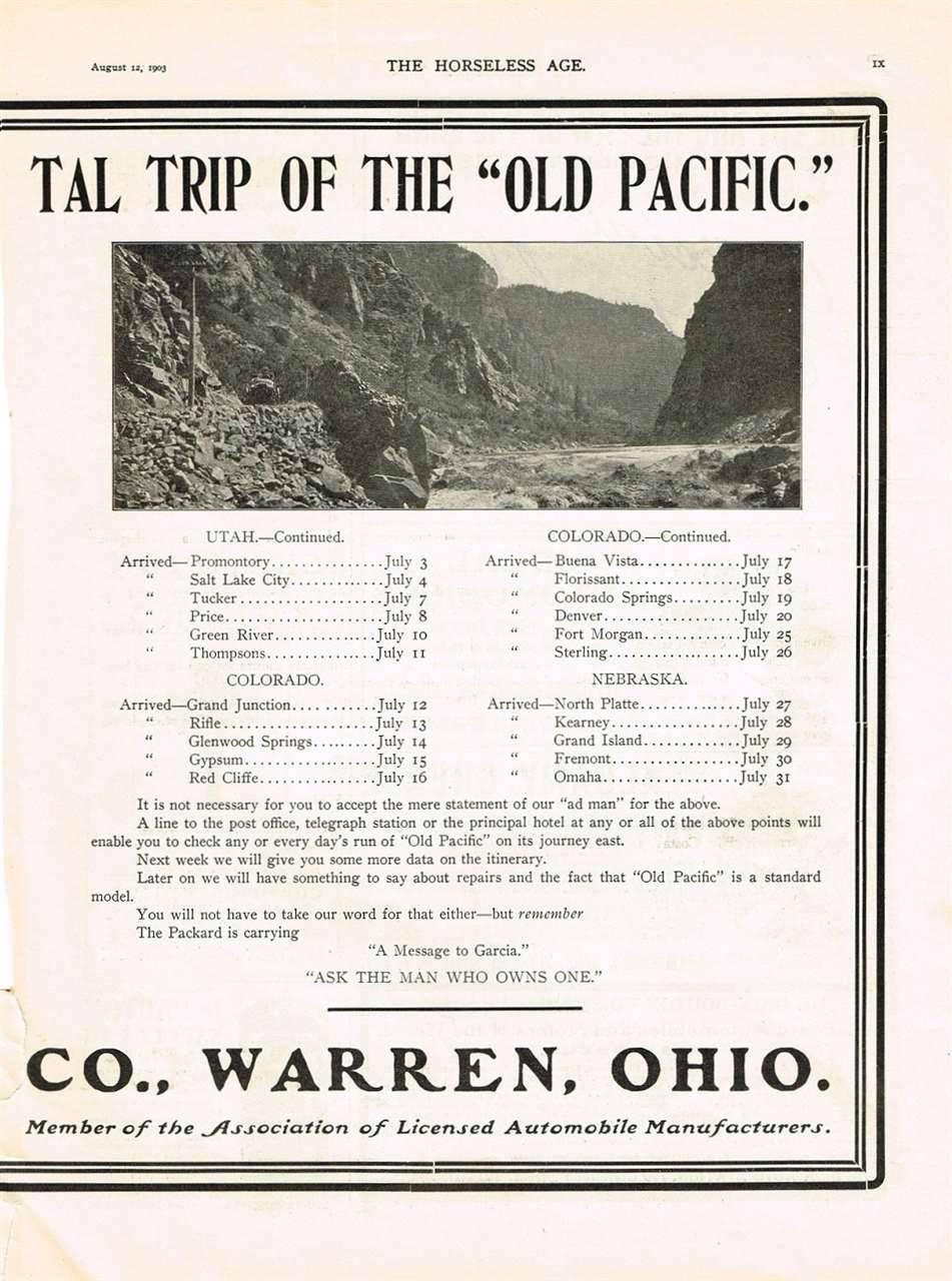 1903 PACKARD ADVERT-B&W RH