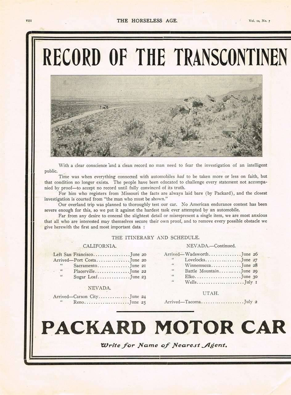 1903 PACKARD ADVERT-B&W LH