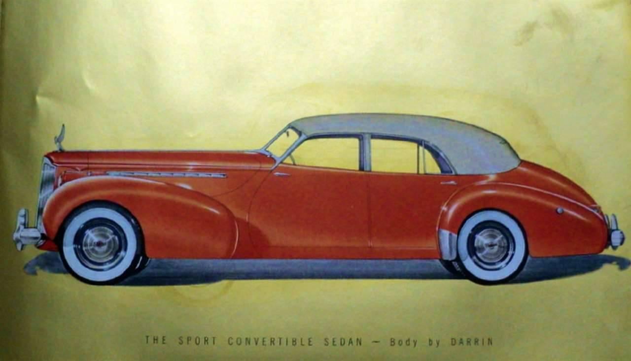1940 PACKARD SUPER EIGHT CUSTOM 180 SPORT CONV SEDAN BY DARREN