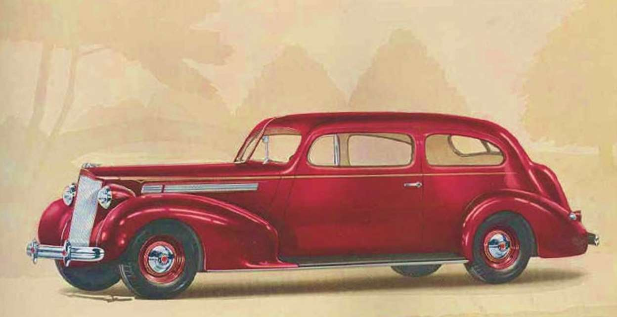 1938 PACKARD 120 EIGHT 2-DR TOURING COUPE