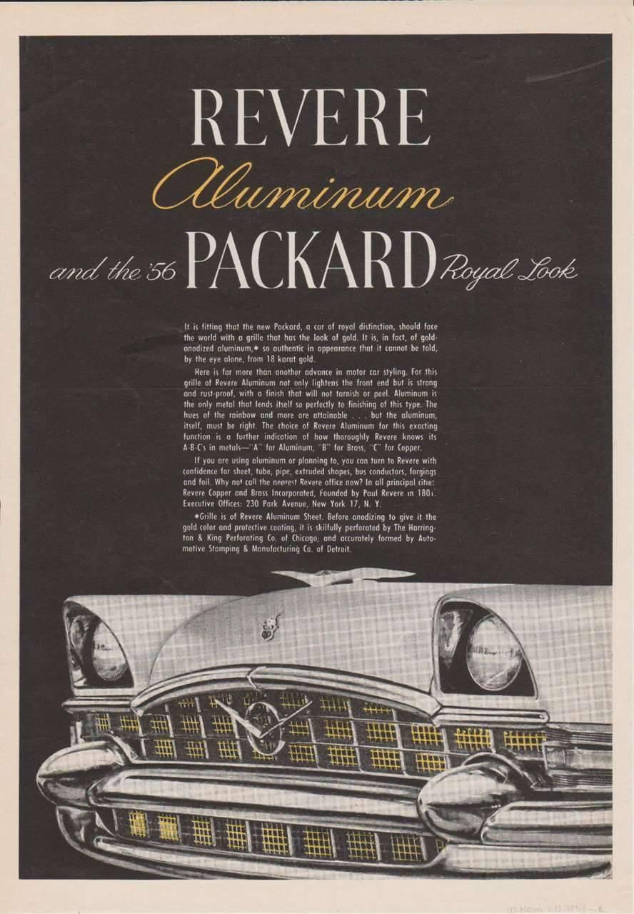 1956 PACKARD ADVERT-B&W