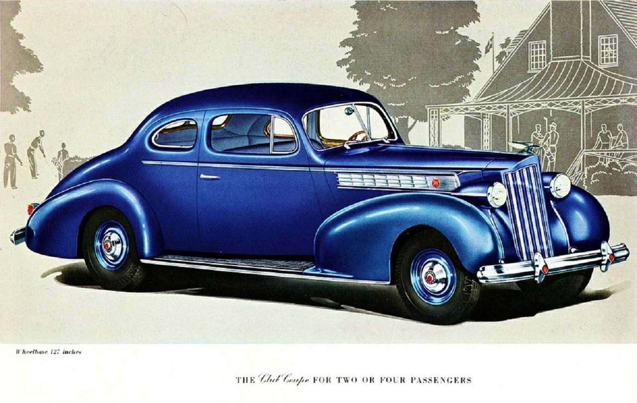 1939 PACKARD SUPER 8 CLUB COUPE ILLUST