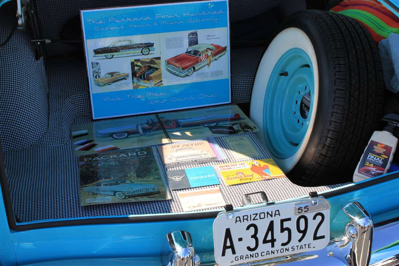 Junk in the trunk of 1955 Packard