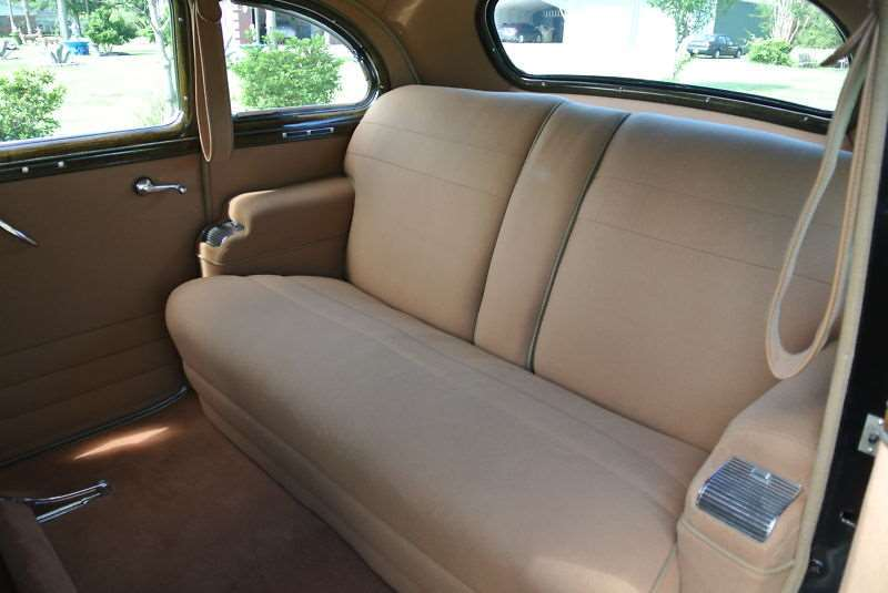 1942 Packard 160 rear seating area