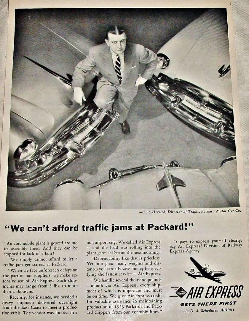 1953 PACKARD-AIR EXPRESS ADVERT-B&W