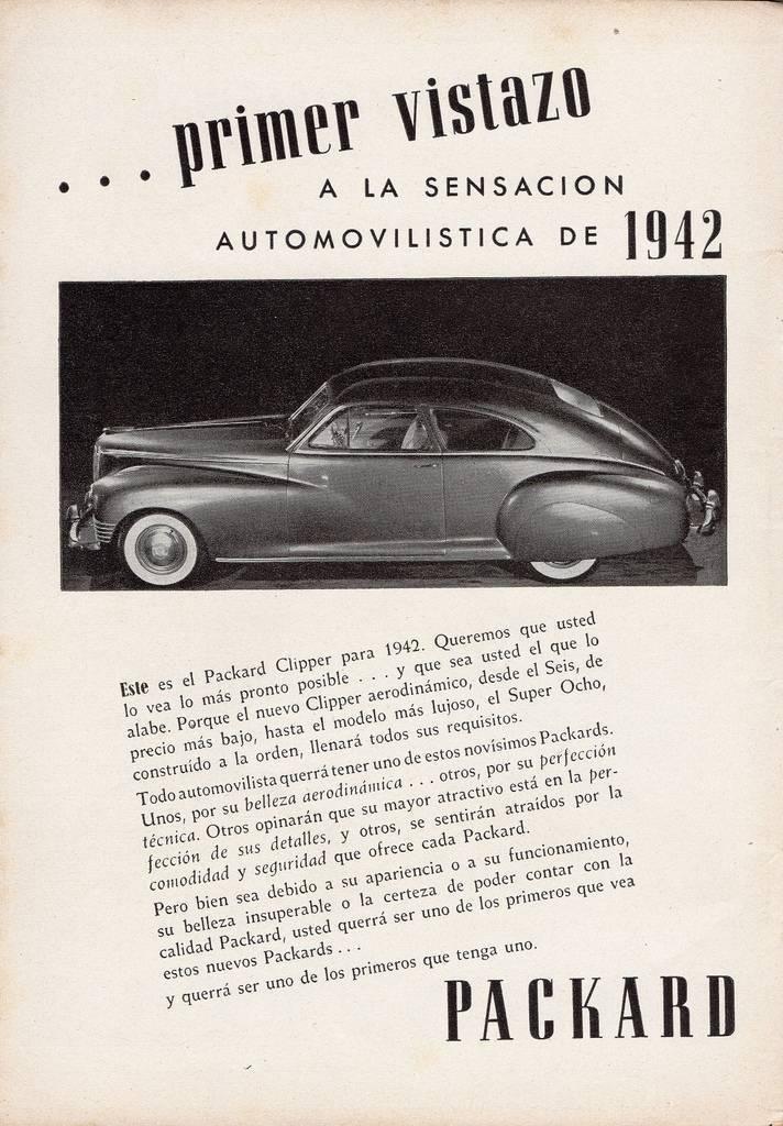 1942 PACKARD-ARGENTINA ADVERT-B&W