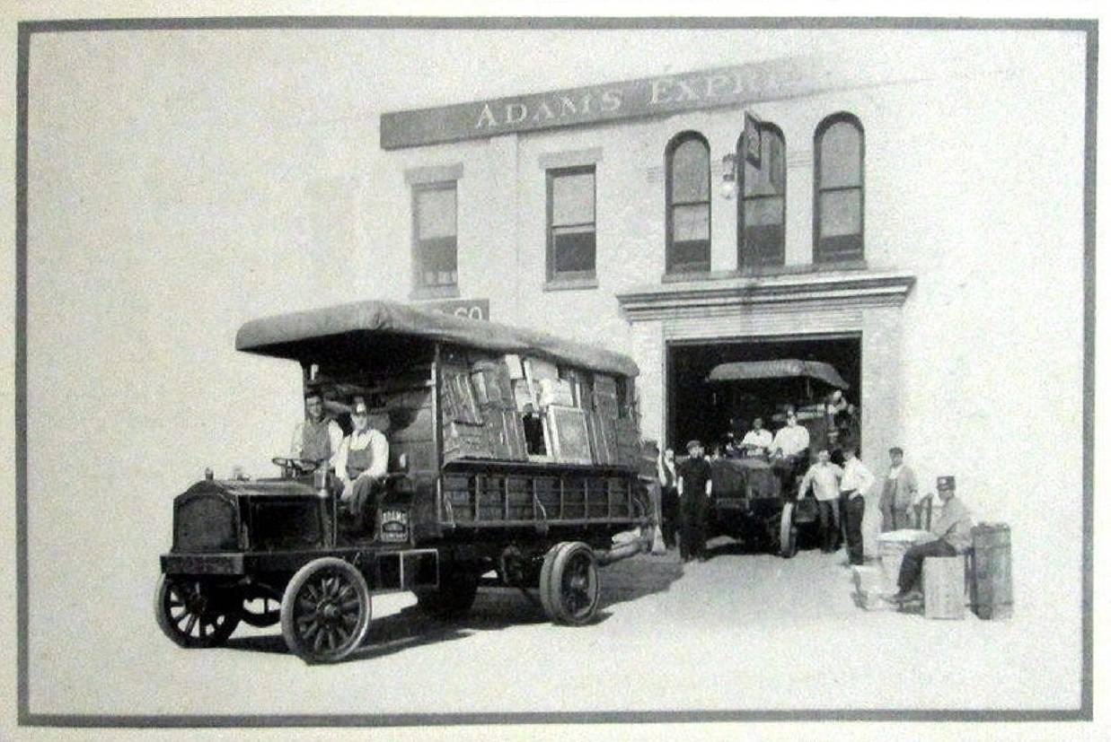 1911 PACKARD TRUCK PRESS PHOTO-B&W