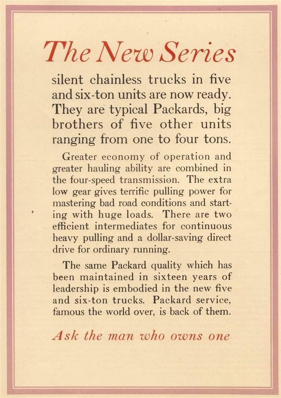 Packard Truck Advert 39