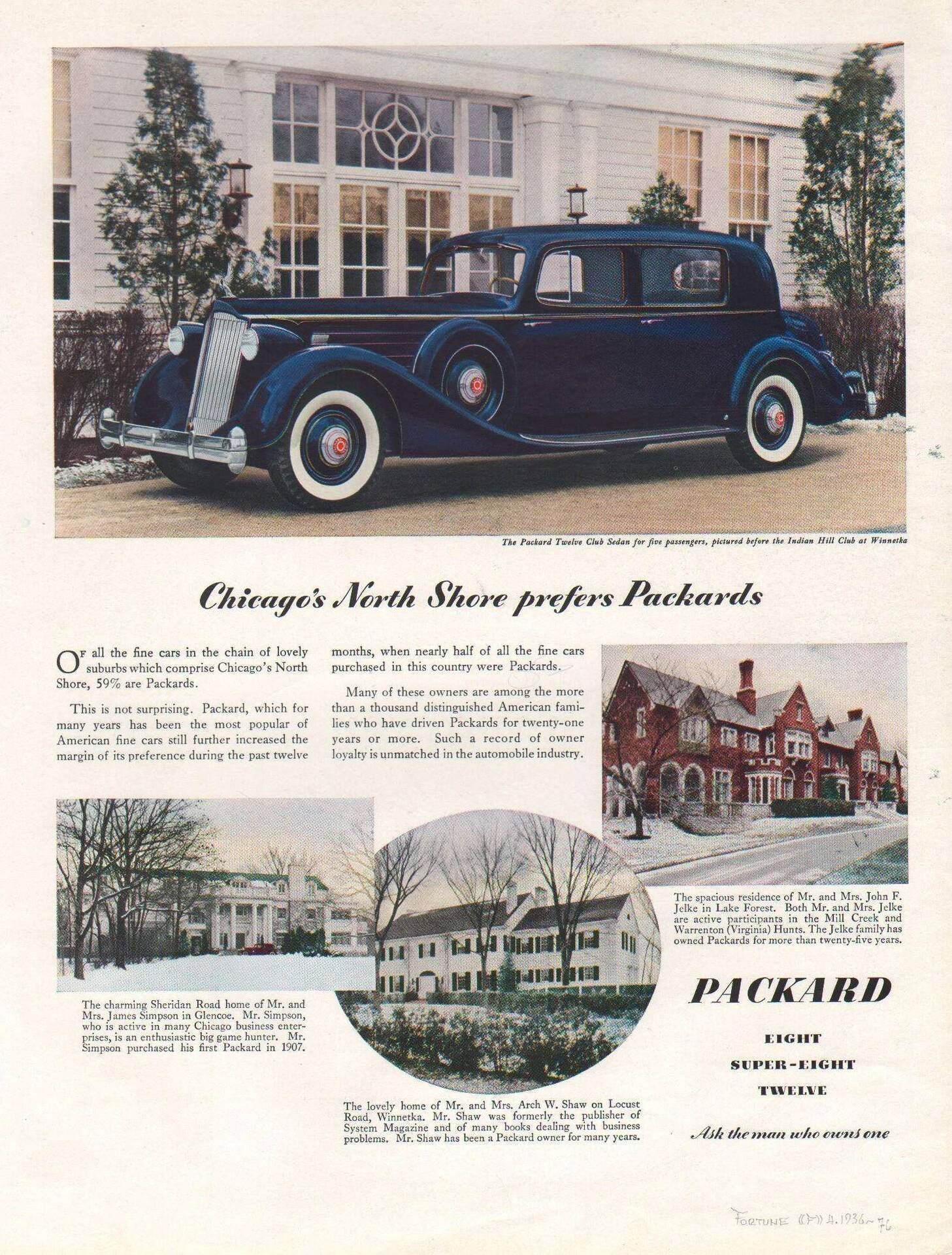 1936 Owner Loyalty Advertisement- Fortune