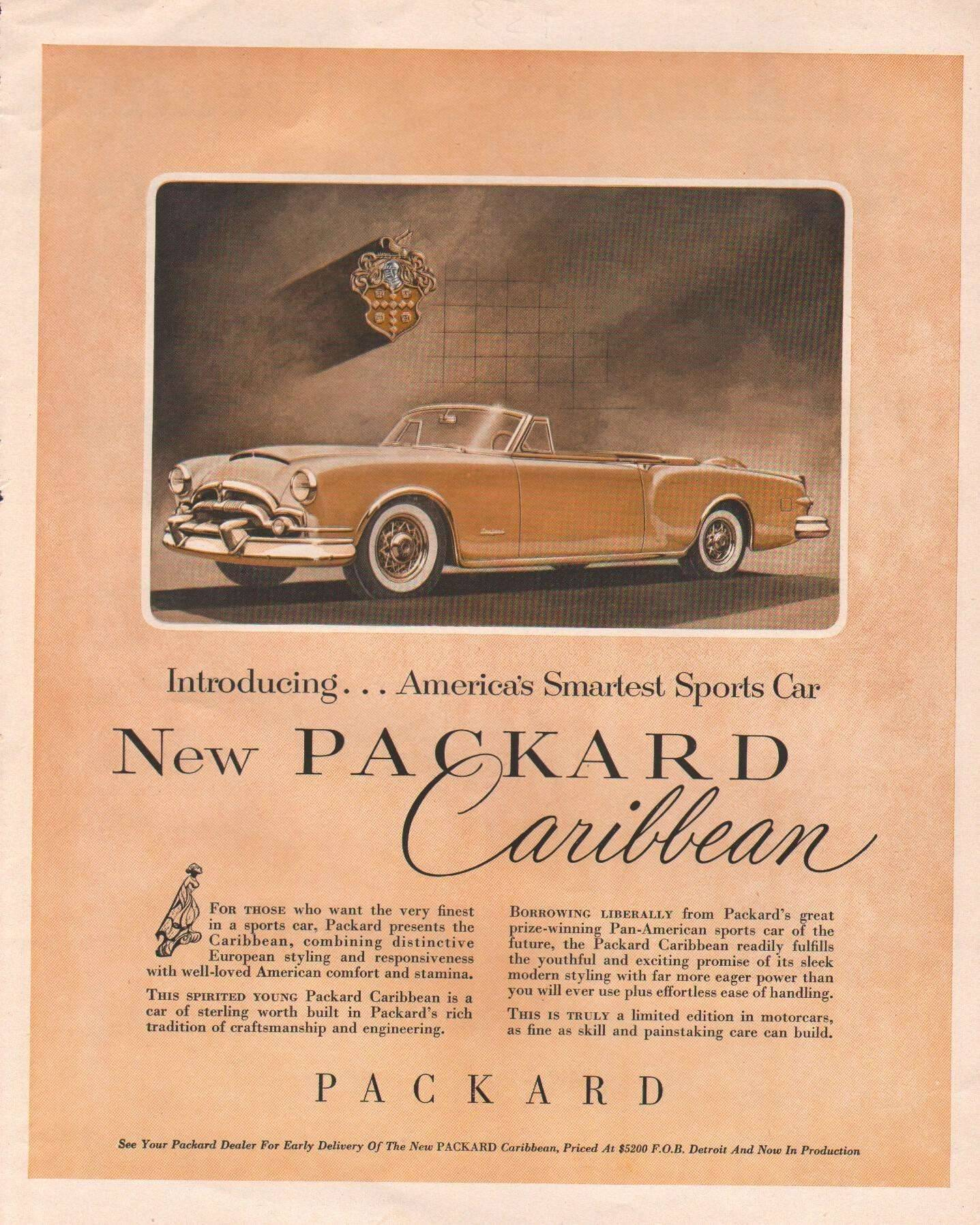 1953 Caribbean - Advertisement