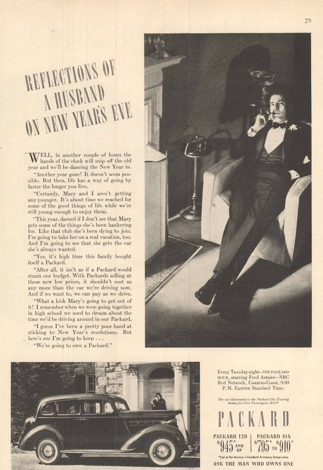 1937 Six for Five Passengers - Advertisement
