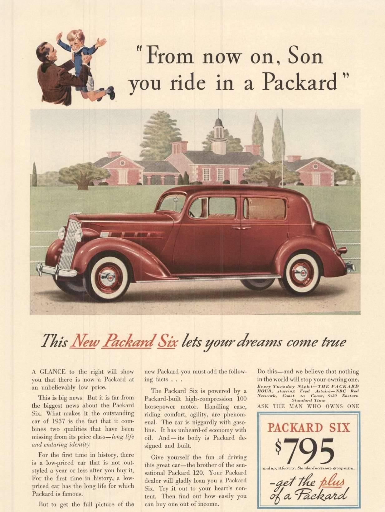 1937 Six Club Sedan - Advertisement