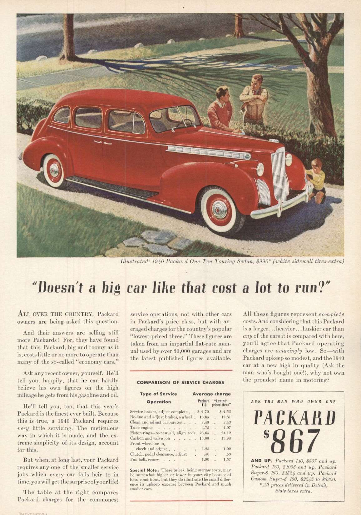 1940 One-Ten Touring Sedan - Advertisement