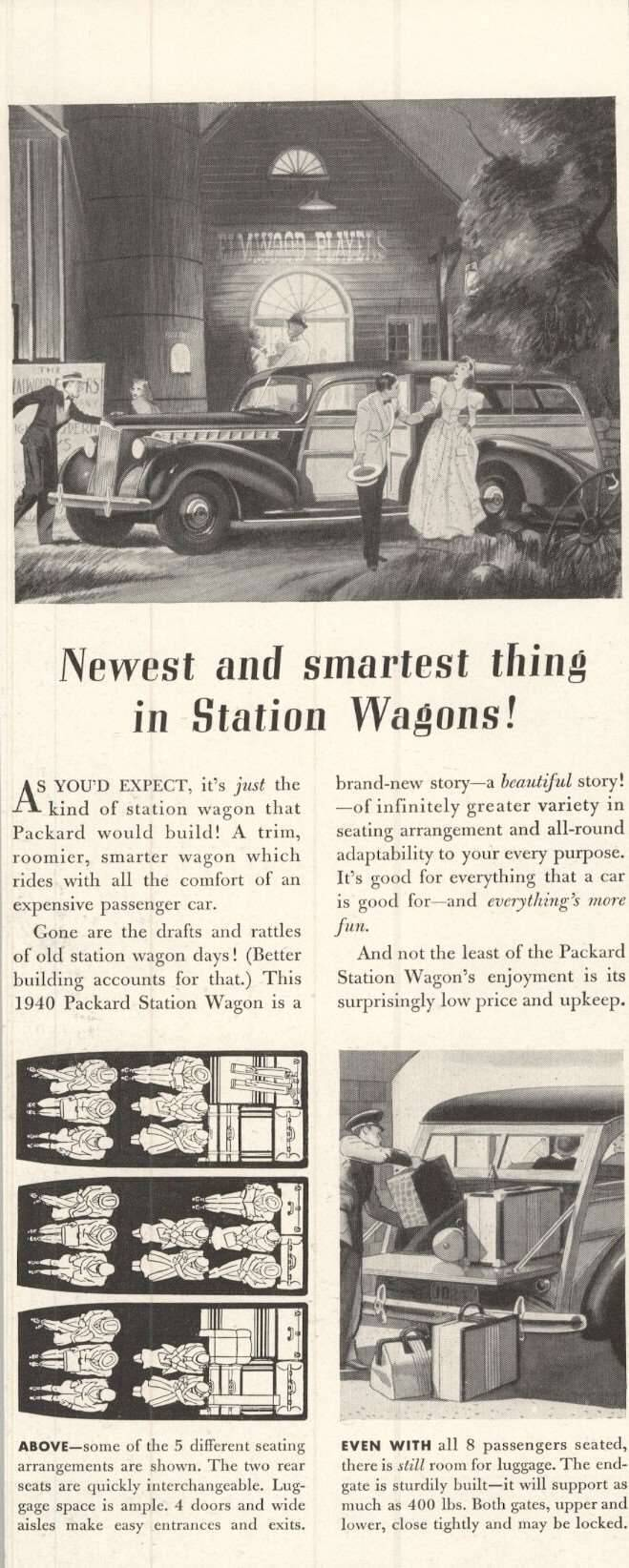 1940 Station Wagon - Advertisement