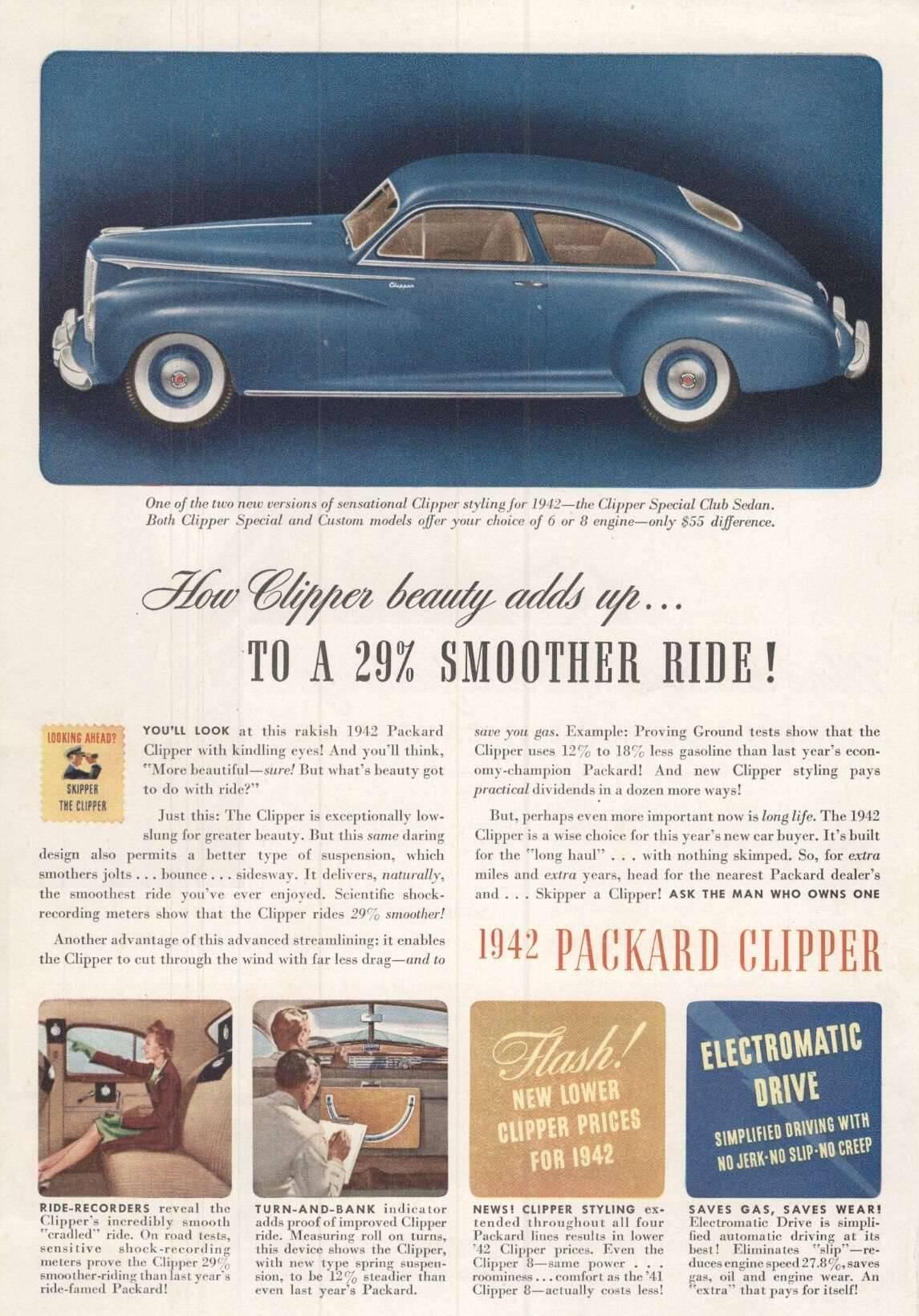 1942 Clipper Special Club Sedan - Advertisement
