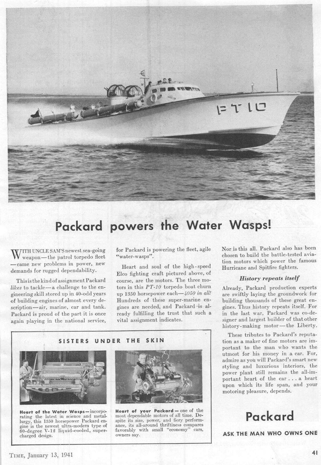 "Packard powers the ""Water Wasps"""