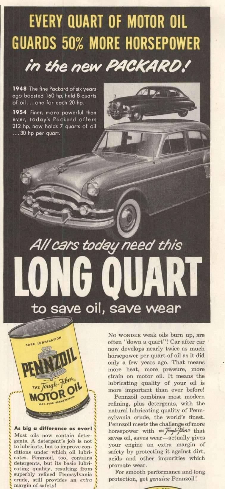 1954 Pennzoil Advertisement