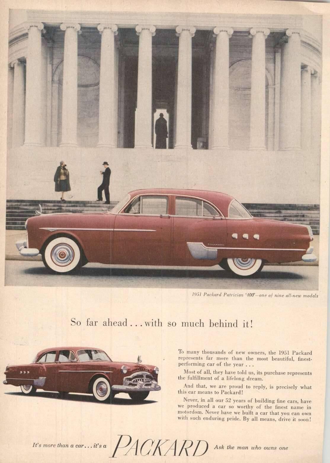 1951 Packard Patrician 400 Advertisement