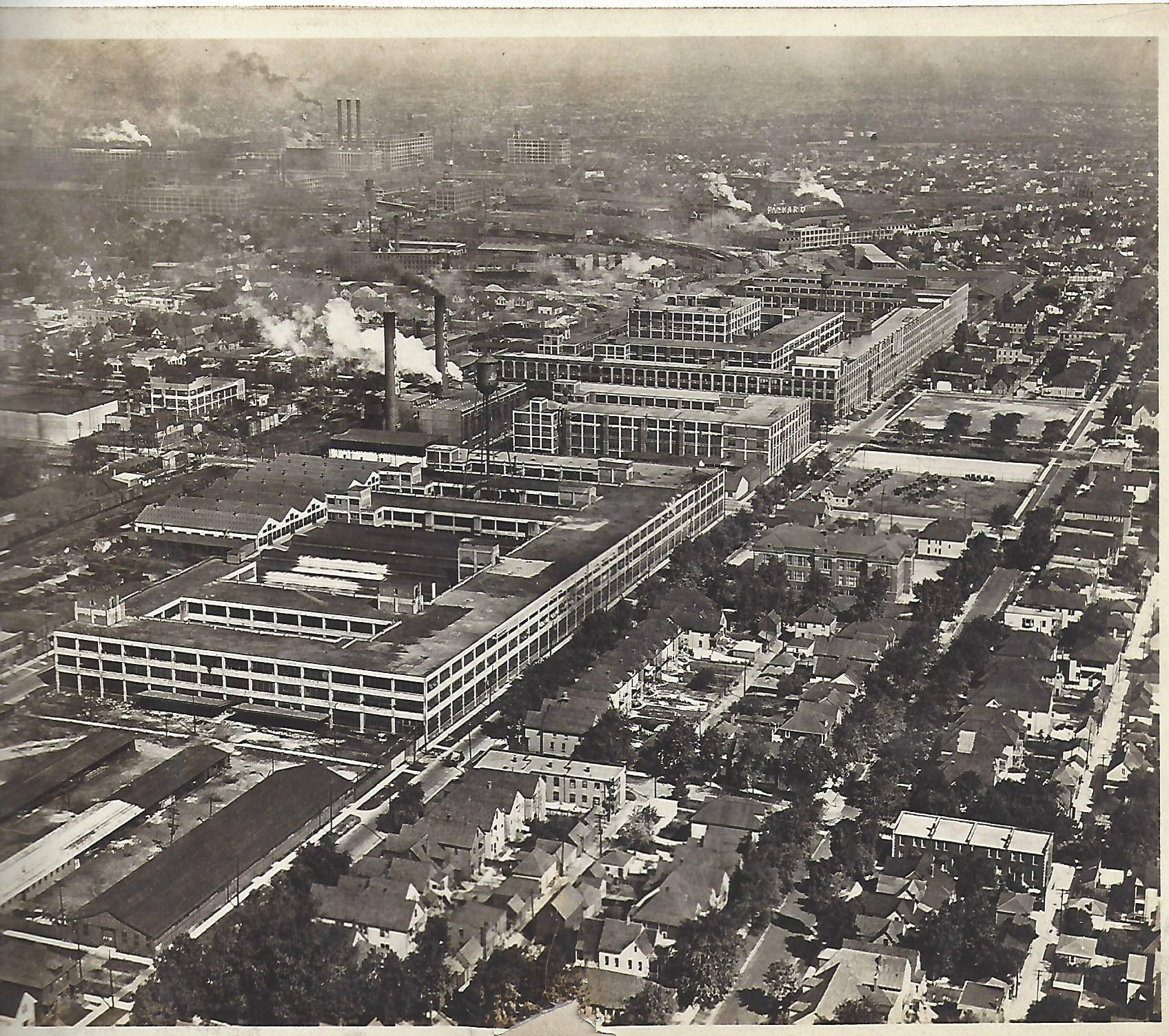 Airplane View of the Packard Factory - 166-D