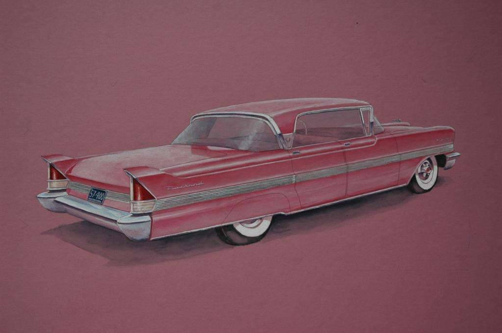 '57 Detroit Packards Watercolor