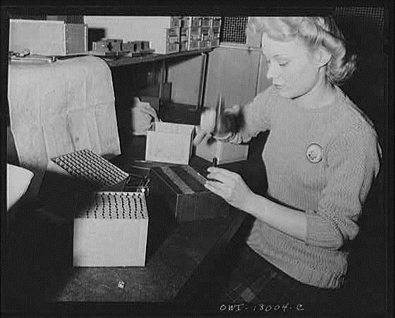 Packard war worker