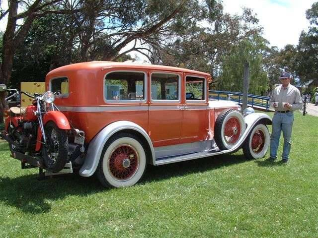 1927 Packard 533 with '41 Indian M/C on the back