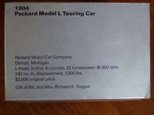 1904 Model L Touring Car