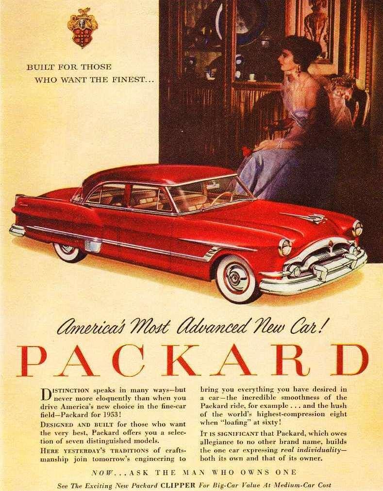 1953 PACKARD ADVERTISEMENT