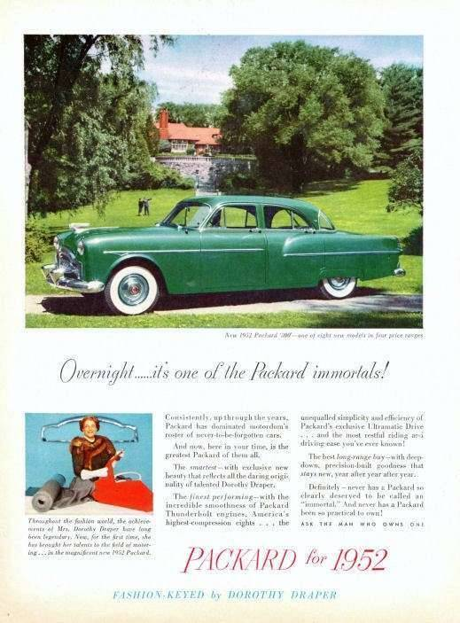 1952 PACKARD 200 SEDAN ADVERTISEMENT